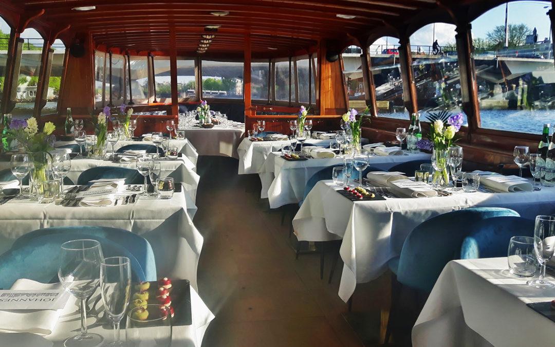 Diner rondvaart Amsterdam salonboot Monne de Miranda
